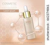 realistic 3d cosmetic design... | Shutterstock .eps vector #662374861
