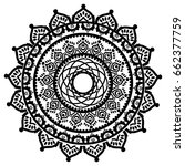 mandala in the shape of the... | Shutterstock .eps vector #662377759