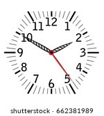 simple black and white clock... | Shutterstock .eps vector #662381989