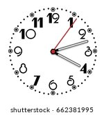 simple black and white clock... | Shutterstock .eps vector #662381995