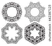 set of vintage vector frames ... | Shutterstock .eps vector #662387125