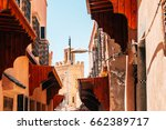 colorful old streets of...