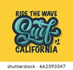 vector illustration of surf... | Shutterstock .eps vector #662393347