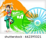 happy independence day of india ...   Shutterstock .eps vector #662395321