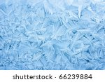 abstract blue frost background closeup - stock photo