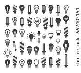 the best set light bulbs  led... | Shutterstock .eps vector #662402191