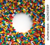 Colored Toy Bricks With Place...