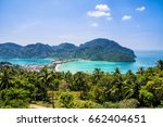 amazing view of bay koh phi phi ... | Shutterstock . vector #662404651