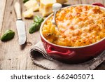 mac and cheese  american style... | Shutterstock . vector #662405071