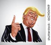 portrait of donald trump... | Shutterstock .eps vector #662406949