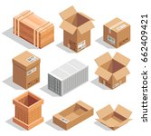 different big delivery packages.... | Shutterstock .eps vector #662409421