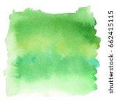 green color watercolor hand... | Shutterstock .eps vector #662415115