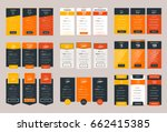 collection of coloful pricing... | Shutterstock .eps vector #662415385