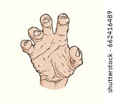 vector hand drawn illustration... | Shutterstock .eps vector #662416489