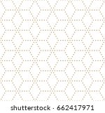geometric dashed grid graphic... | Shutterstock .eps vector #662417971