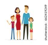 family   coloured modern flat... | Shutterstock . vector #662419249