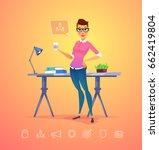 business woman character....   Shutterstock .eps vector #662419804