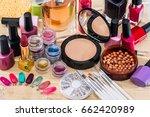 professional cosmetics tools... | Shutterstock . vector #662420989