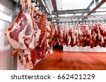 close up of a half beef chunks... | Shutterstock . vector #662421229