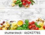 italian kitchen background....   Shutterstock . vector #662427781