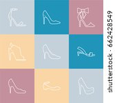 set with different types of... | Shutterstock .eps vector #662428549