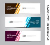 vector abstract design banner... | Shutterstock .eps vector #662430991