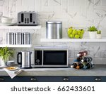 microwave the kitchenware home... | Shutterstock . vector #662433601