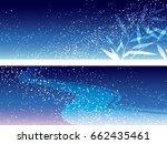 a set of two vector milky way... | Shutterstock .eps vector #662435461