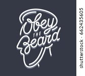 obey the beard t shirt... | Shutterstock .eps vector #662435605