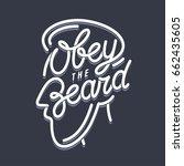 obey the beard t shirt... | Shutterstock .eps vector #662435605