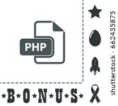 php icon illustration. flat...