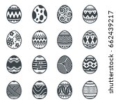 eggs element design  easter... | Shutterstock .eps vector #662439217