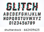 trendy style distorted glitch... | Shutterstock .eps vector #662439625