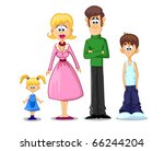 family   mom  dad  daughter  son | Shutterstock .eps vector #66244204