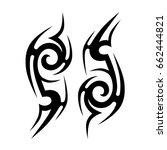 tribal tattoo art designs.... | Shutterstock .eps vector #662444821