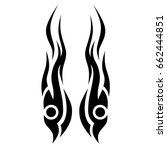 tribal tattoo art designs.... | Shutterstock .eps vector #662444851