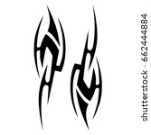 tattoo tribal vector design.... | Shutterstock .eps vector #662444884