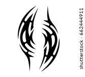 tribal tattoo art designs.... | Shutterstock .eps vector #662444911