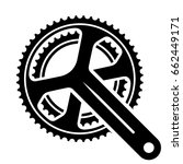 vector bicycle cogwheel... | Shutterstock .eps vector #662449171