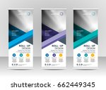 roll up banner stand template... | Shutterstock .eps vector #662449345