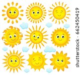 abstract sun theme collection 4 ... | Shutterstock .eps vector #662450419