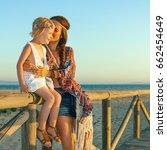 bohemian vibe vacation. full...   Shutterstock . vector #662454649