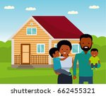 happy african family in the... | Shutterstock .eps vector #662455321