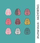 brain icons of different colors. | Shutterstock .eps vector #662458561