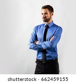 handsome young businessman... | Shutterstock . vector #662459155