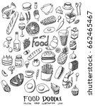 food doodle line vector set | Shutterstock .eps vector #662465467