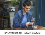young man the bar with your... | Shutterstock . vector #662466229