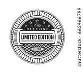 vector vintage black circle... | Shutterstock .eps vector #662466799