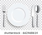 stainless steel knife  spoon... | Shutterstock .eps vector #662468614