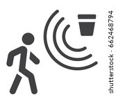 motion detector solid icon ... | Shutterstock .eps vector #662468794